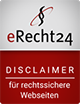 eRecht24 Rechtsicherer Disclaimer